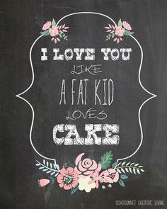 10+ Super Cute DIY Valentine Chalkboard Crafts: Chalkboard Valentine free printable