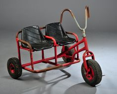 vintage tandem tricycle