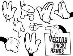 Free download hand vector pack.. More Free Vector Graphics, www.123freevectors.com
