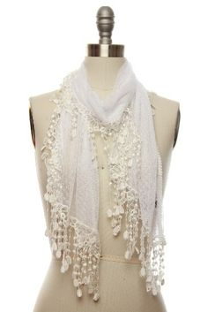 vintage lace scarf...adds elegance to a simple outfit :)