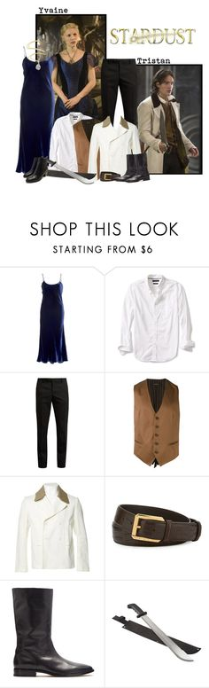 """Stardust - Yvaine and Tristan"" by crayons1234 ❤ liked on Polyvore featuring Banana Republic, Yves Saint Laurent, Tagliatore, Carven and Stefano Ricci"