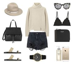 Knit + Shorts by fashionlandscape on Polyvore featuring polyvore, fashion, style, Proenza Schouler, Neuw, Cosabella, Common Projects, Yves Saint Laurent, Larsson & Jennings, rag & bone, VALLEY, SK-II, FingerPrint Jewellry and Mansur Gavriel