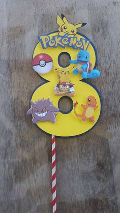Pokemon+cake+topper+centerpiece+cut+out+by+SilviasPartyDecor