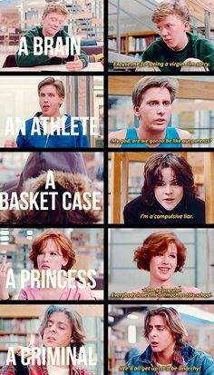 The Breakfast Club (1985)| 25 Memorable Coming Of Age Movies. Such a great movie!