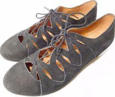 Gentle Souls Nye US Size 7M Nubuck Lace-Up Wedge Heel shoes Black, Brown NEW #GentleSouls #LaceUp