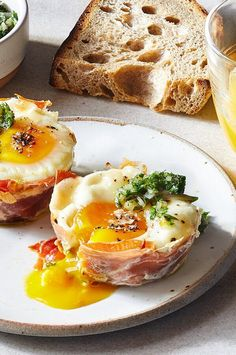 These surprisingly elegant, savory herb-topped eggs bake up in a muffin pan, so it's easy to make breakfast or brunch for a few days—or for more than a few people. Serve any leftover breakfast egg cups sandwiched between buttered, toasted English muffins or brioche slices.#breakfastrecipes #brunchrecipes #breakfastideas #brunchideas Easy To Make Breakfast, Egg Recipes For Breakfast, Delicious Breakfast Recipes, Best Brunch Recipes, Savory Herb, English Muffins, Stuffed Mushrooms, Stuffed Peppers, Appetizer Recipes