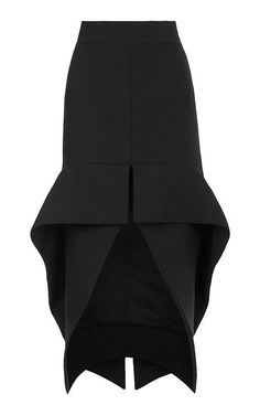 Phenomenal Cocktail Skirt by Maticevski - Moda Operandi. Maybe refashion trousers to this style except a little shorter at the back. Less of a dip back. Fashion Details, Look Fashion, High Fashion, Womens Fashion, Fashion Design, Fashion Trends, Jupe Short, Moda Chic, Mode Inspiration