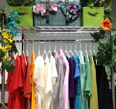 #SpringGreen Closet 4: Organize your clothing by color to see what you own - never buy 5 identical black blouses again! Have too much of one thing? #Recycle unused clothing with ATRS!