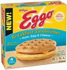 Kellogg's Eggo Bacon, Egg & Cheese Breakfast Sandwiches Cheese Waffles, Bacon Egg And Cheese, Ham Breakfast, Breakfast Recipes, Breakfast Sandwiches, Breakfast Ideas, Best Cereal, Palestinian Food, Waffle Recipes