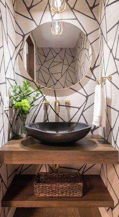Powder Room Decor, Powder Room Design, Powder Room Vanity, Diy Bathroom Decor, Bathroom Interior Design, Bathroom Ideas, Zebra Bathroom, Colorful Bathroom, Bathroom Trends