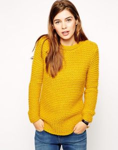 ASOS | ASOS Sweater in Chunky Mohair Stitch at ASOS