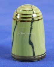 Bouchet Original Agateware Thimble Jersey British Isles Light & Dark Green Gold
