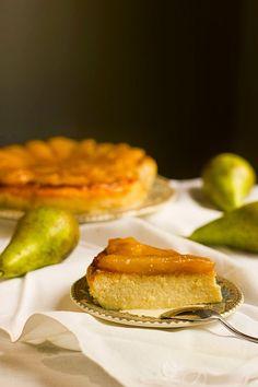 Yerbabuena en la cocina: Tarta de requesón con peras caramelizadas
