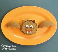 Halloween Bat Burgers from KitchenFunWithMy3Sons.com