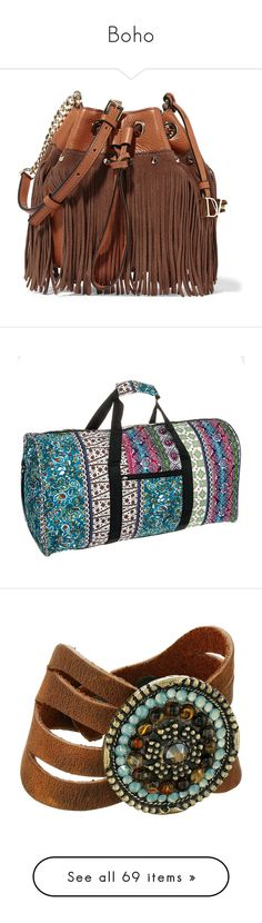 """Boho"" by tina-teena ❤ liked on Polyvore featuring bags, handbags, shoulder bags, bolsas, purses, tan, purse shoulder bag, boho shoulder bag, suede fringe purse and chain shoulder bag"