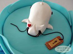 Whale cake detail - Pormenor Baleia