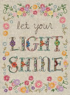 Hand Stitched - Let Your Light Shine Art Print