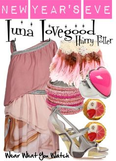 A New Year's Eve set inspired by Evanna Lynch as Luna Lovegood in the Harry Potter film franchise.