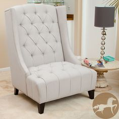 Christopher Knight Home Miles Tall Wingback Accent Chair | Overstock.com Shopping - The Best Deals on Chairs