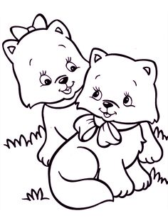 Kittens Coloring Pages For Teens And Adults