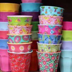 RICE MELAMINE CUPS  oh the cheery joyousness