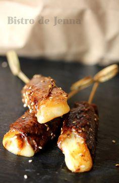 Brochettes de boeuf au fromage - Yakitori