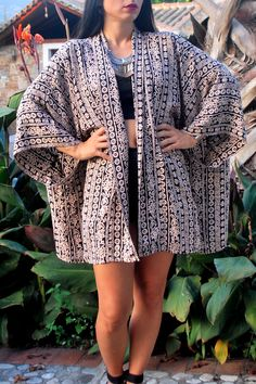 Boho printed kimono - ΡΟΥΧΑ -> Jackets & kimono | Made of Grace