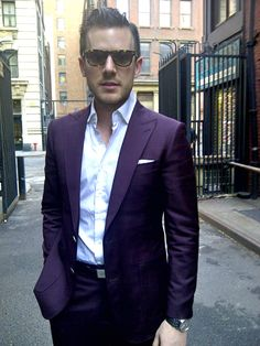 ... [Love the color! Men don't have to only wear black & charcoal. ~sdh]