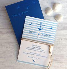 """Hochzeitskarten - Hochzeitseinladung """"maritim"""" - ein Designerstück von moments bei DaWanda"""