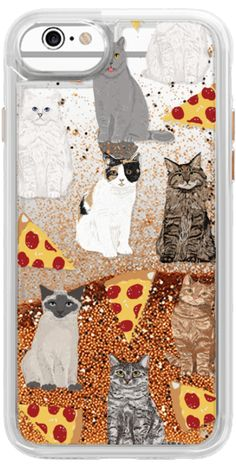 Casetify iPhone 5s Classic Snap Case - Cats and pizza cute junk food pizza slice cell phone case cat lady must have iphone6 accessories for tech devices by Pet Friendly #Casetify