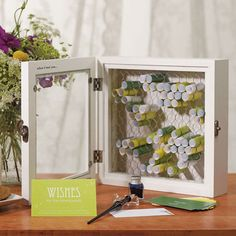 Country Charm Wooden Wish Box + Personalised Paper Wish Scrolls