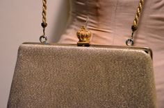 Gold Crown Evening Bag