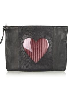 Newbark  Heart leather pouch