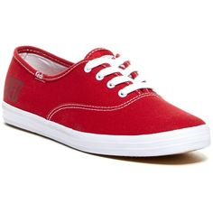 Keds Champion Ox Lace-Up Sneaker ($25) ❤ liked on Polyvore featuring shoes, sneakers, keds, sapatos, red, lace up shoes, round toe sneakers, keds footwear, round cap and keds sneakers
