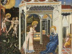 Zwiastowanie i wygnanie z Raju, Giovanni di Paolo