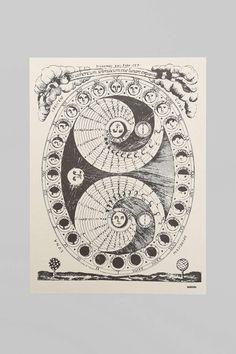 Margins Lunar Calendar Poster