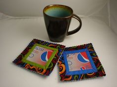 Soda Can Coasters  - one of my fave projects by Lorine Mason!