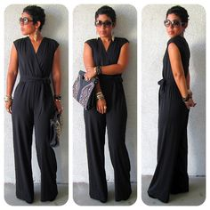 DIY Black Jumpsuit + Pattern Review McCall 6083 + Get The Look   mimi g. style