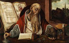 Follower of Joos van Cleve (1485-1540) - Saint Jerome