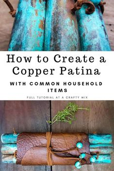 Add some rustic goodness to your kitchen with this easy DIY leather and patina copper trivet. Step-by-step tutorial with lots of photos! Includes instructions on how to patina copper with common household items. Copper Decor, Copper Crafts, Patina Paint, Do It Yourself Jewelry, Copper Tubing, Copper Jewelry, Enamel Jewelry, Jewellery, Jewelry