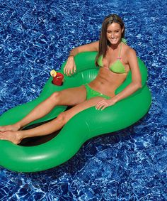 Look what I found on #zulily! Green Cool Chair Float #zulilyfinds