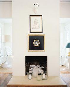 Fireplace decor idea