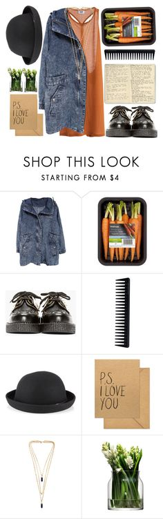 """""""Bowler + Creepers"""" by marthahosillos ❤ liked on Polyvore featuring MTWTFSS Weekday, Underground, Moleskine, GHD, Accessorize, Sugar Paper, Isabel Marant and LSA International"""