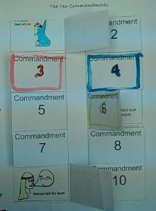 10 commandments craft. Make a pop-up page for learning the 10 commandments and make a game out of it!