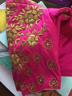 All Ethnic Customization with Hand Embroidery & beautiful Zardosi Art by Expert & Experienced Artist That reflect in Blouse , Lehenga & Sarees Designer creativity that will sunshine You & your Party Worldwide Delivery. Wedding Embroidery, Hand Embroidery, Embroidery Designs, Zardosi Embroidery, Embroidery Blouses, Fancy Blouse Designs, Blouse Neck Designs, Designer Blouse Patterns, Embroidery Fashion