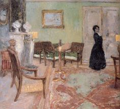 Woman Standing in the Living Room ~ Édouard Vuillard ~ (French: 1868-1940)