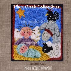 Christmas Nativity Punch Needle Pattern #401
