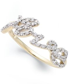 wrapped Diamond Love Ring (1/6 ct. t.w.) in YellOra