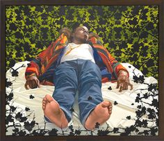 Los Angeles native and New York based visual artist, Kehinde Wiley has firmly situated himself within art history's portrait painting tradition. African American Artist, American Artists, African Art, Large Painting, Figure Painting, Rococo Painting, Kehinde Wiley, Queer Art, Black Artists