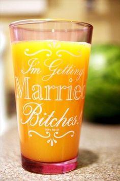 Shot Glasses / Bachelorette Idea? Bridesmaids .. perfect for @corymcredmond for when the time comes.